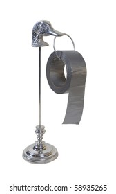 Silver duck duct tape dispenser for the ultimate in formal leisure - path included