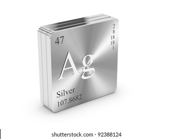 Silver periodic table images stock photos vectors shutterstock silver element of the periodic table on metal steel block urtaz Choice Image
