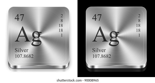 Silver periodic table images stock photos vectors shutterstock silver element of the periodic table two steel web buttons urtaz Choice Image