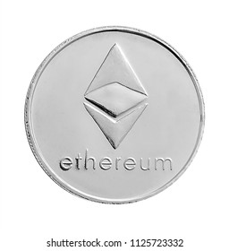 Silver Ethereum cryptography digital currency ETH coins