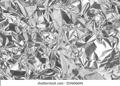 Silver foil with shiny surface for background