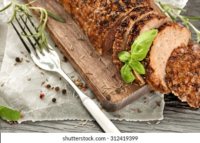 silver fork and roast