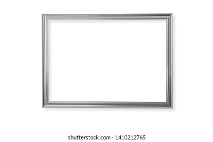silver frame isolated on white backgground with clipping path