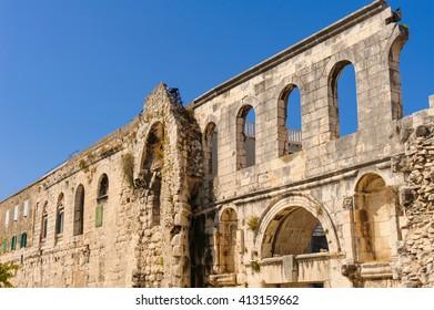 Silver Gate (Porta Argentea) on the east side of Diocletian's Palace in Split, Croatia