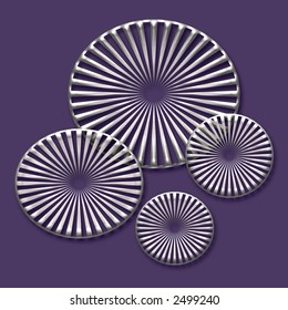 silver gears on purple background abstract art