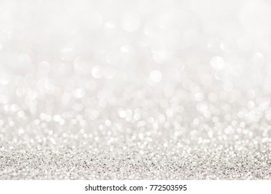Silver glitter abstract light background