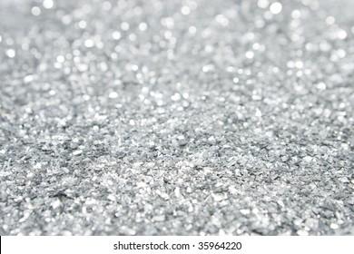 Silver Glitter Close Up
