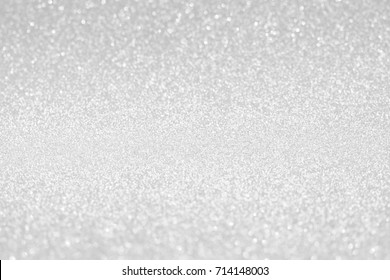 silver glitter texture christmas abstract background,   Defocused