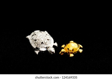 Silver and gold turtles in the universe