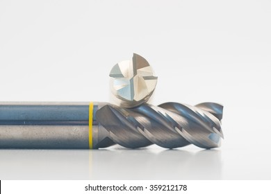 Silver and golden end mill cutter