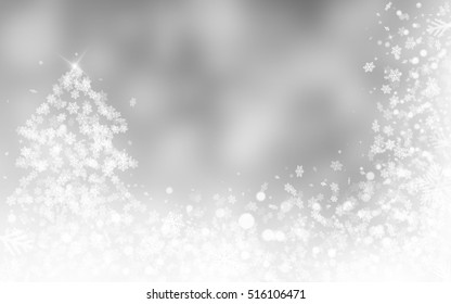 Silver or gray christmas background sparkle rays lights with bokeh elegant. Dust sparks in explosion background.
