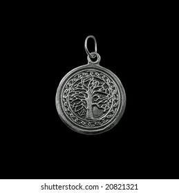 Silver jewelry on black background