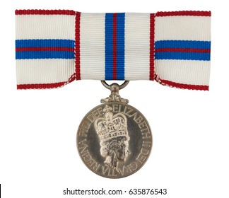 Silver Jubilee Medal isolated on white with clipping path