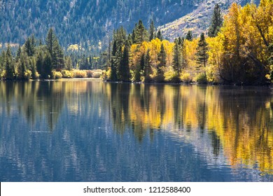Silver Lake reflection with fall Colors.
