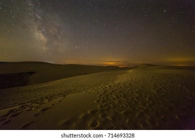 Silver Lake State Park Sand Dunes at night, Michigan