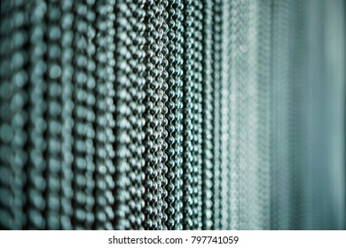 Silver Metal Chains Link Curtain