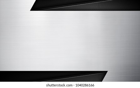 silver metal template background