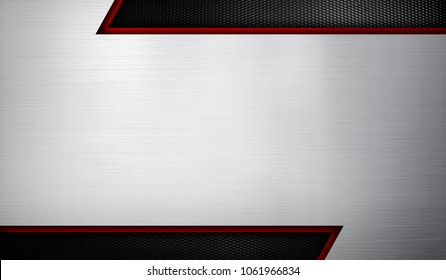 silver metal template design background