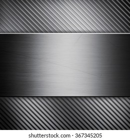 A silver metallic texture background pattern with clean lines and stripes