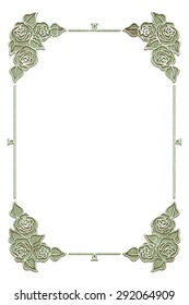 Silver photo frame with roses