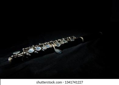 Silver piccolo instrument music