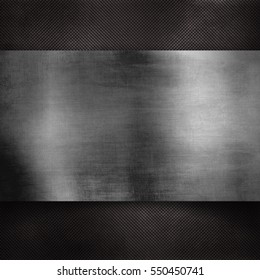 silver plate texture on black background