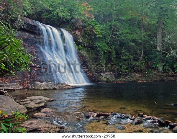 Silver Run Falls North Carolina.