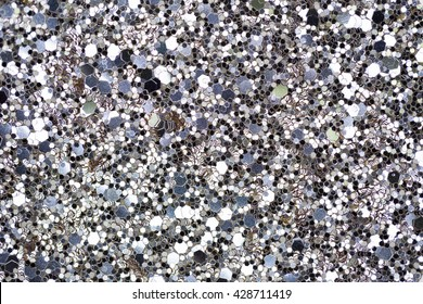 Silver sequins pattern glitter texture fashion