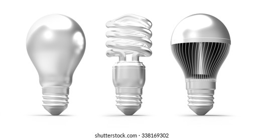 silver shaded light buld shapes