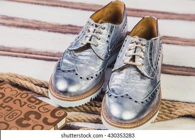 silver shoes Italian shoes women shoes