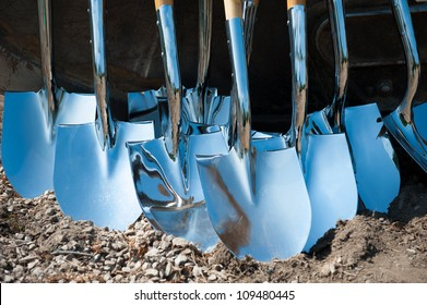 Silver shovels for grand opening ceremony