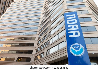 SILVER SPRING, MD / USA - JUNE 30, 2018: National Oceanic and Atmospheric Administration Headquarters in Silver Spring, Maryland.