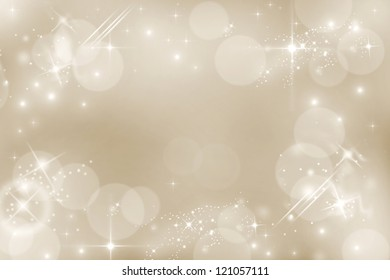 Silver starry christmas and new year's background