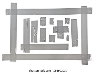 silver tape set, CLIPPING PATH included