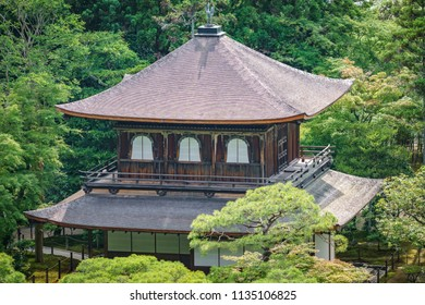 Silver temple Top view in Kyoto