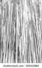 silver tinsel as background of texture