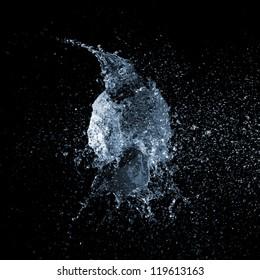 silver water balloon explosion