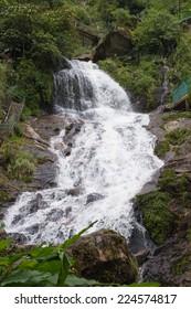Silver waterfall in Vietnam