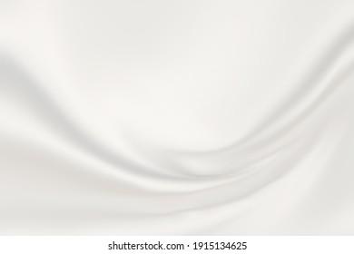 Silver white satin fabric graphic background