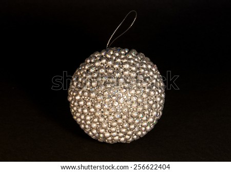 Silver Xmass Bombe Stock Photo Edit Now 256622404 Shutterstock
