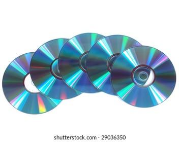 Silver-blue CD, DVD disks