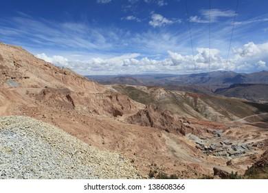 Silvermines in Potosi Bolivia