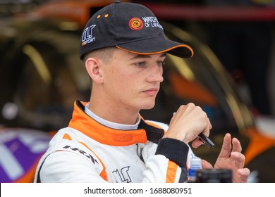 Silverstone Circuit, England. 08/31/2019. Race driver Christian Stubbe Olsen, RLR MSport LMP3. Autograph signing session for the ELMS 4 Hours of Silverstone