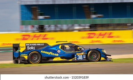 Silverstone Circuit, England, 29 Aug - 1 Sept 2019. Jota Sport LMP2 car on track. WEC 4 Hours of Silverstone