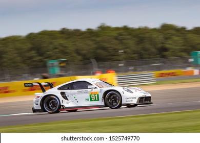 Silverstone Circuit, England, 29 Aug - 1 Sept 2019. Porsche GT Team Porsche 911 on track. WEC 4 Hours of Silverstone