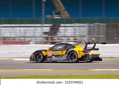 Silverstone Circuit, England, 29 Aug - 1 Sept 2019. Team Project One Porsche 911 on track. WEC 4 Hours of Silverstone