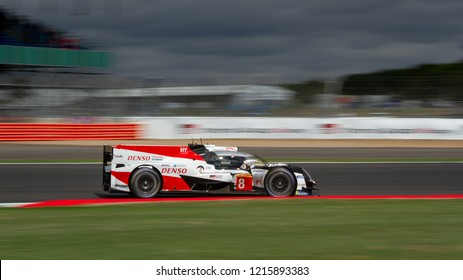 Silverstone Circuit, Northamptonshire, England, August 19 2018. #8 LMP1 Toyota Hybrid on track during the WEC 6 Hours of Silverstone