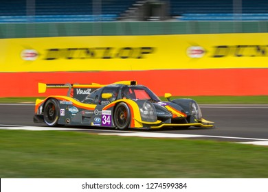 Silverstone Circuit, Northamptonshire, England, August 17 - 18 2018. Team Virage  Ligier JSP3 LMP3 turns into Abbey, ELMS 4 Hours of Silverstone.