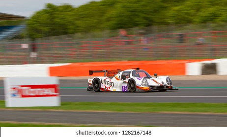 Silverstone Circuit, Northamptonshire, England, August 18 2018. RLR Sport Ligier JS P3 - Nissan LMP3 between Copse and Maggotts, ELMS 4 Hours of Silverstone 2018.
