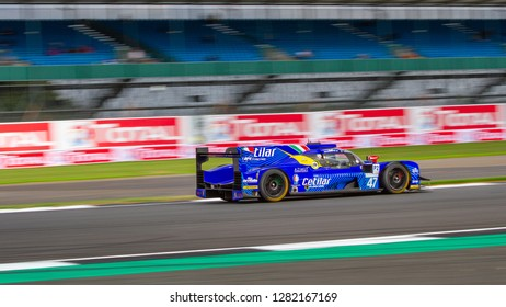 Silverstone Circuit, Northamptonshire, England, August 18 2018. Cetilar Villarba Corse Dallara P217 - Gibson LMP2 at great speed, ELMS 4 Hours of Silverstone 2018.